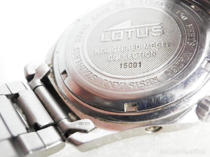 Relojes de pulsera: ANTIGUO Y DEPORTIVO LOTUS CABALLERO TRIPLE CALENDARIO WR50M AÑOS 90 LOTE WATCHES - Foto 4 - 194340603