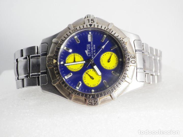 Relojes de pulsera: ANTIGUO Y DEPORTIVO LOTUS CABALLERO TRIPLE CALENDARIO WR50M AÑOS 90 LOTE WATCHES - Foto 6 - 194340603