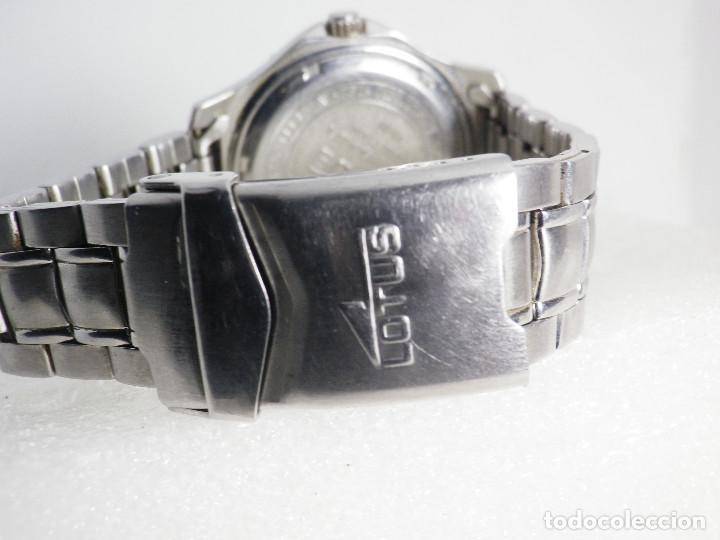 Relojes de pulsera: ANTIGUO Y DEPORTIVO LOTUS CABALLERO TRIPLE CALENDARIO WR50M AÑOS 90 LOTE WATCHES - Foto 8 - 194340603