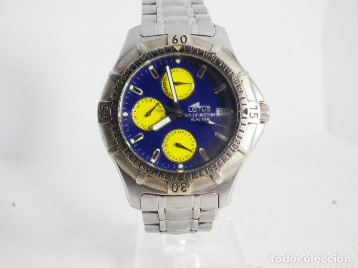 Relojes de pulsera: ANTIGUO Y DEPORTIVO LOTUS CABALLERO TRIPLE CALENDARIO WR50M AÑOS 90 LOTE WATCHES - Foto 9 - 194340603