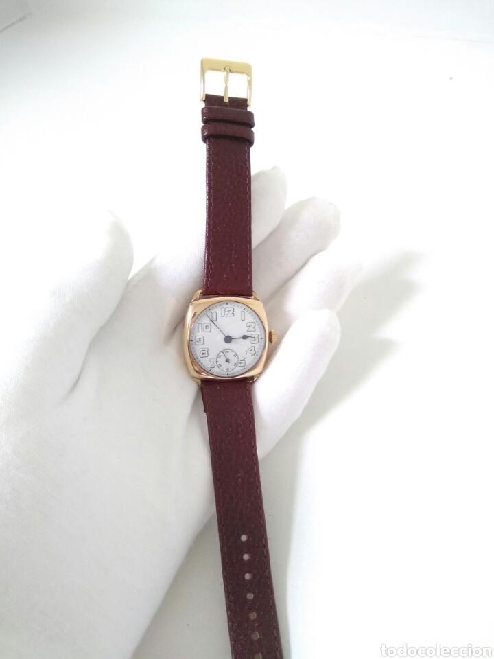 Relojes de pulsera: RELOJ ART DECO FUNCIONANDO DECADA 1920 CHAPADO ORO EXCELENTE AAA - Foto 4 - 194345626