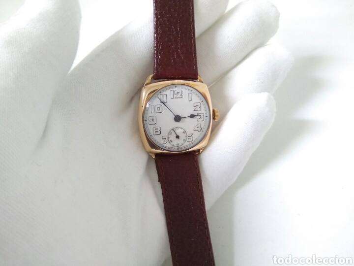 Relojes de pulsera: RELOJ ART DECO FUNCIONANDO DECADA 1920 CHAPADO ORO EXCELENTE AAA - Foto 7 - 194345626