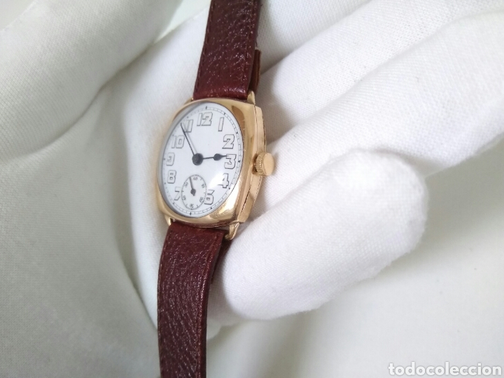 Relojes de pulsera: RELOJ ART DECO FUNCIONANDO DECADA 1920 CHAPADO ORO EXCELENTE AAA - Foto 11 - 194345626