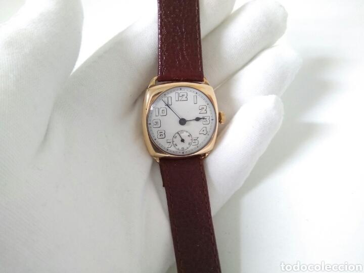 RELOJ ART DECO FUNCIONANDO DECADA 1920 CHAPADO ORO EXCELENTE AAA (Relojes - Pulsera Carga Manual)