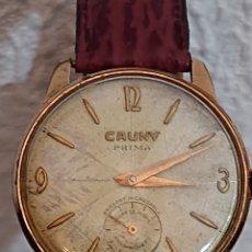 Relojes de pulsera: ANTIGUO RELOJ CAUNY PRIMA DE LUXE ORO 10 MICRAS. Lote 194522596