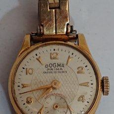 Relojes de pulsera: ANTIGUO RELOJ DOGMA PRIMA DAMA ORO 10 MICRAS. Lote 194523185