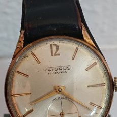 Relojes de pulsera: ANTIGUO RELOJ CABALLERO VALORUS INCABLOC CARGA MANUAL. Lote 194525223