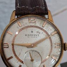 Relojes de pulsera: ANTIGUO RELOJ DE CABALLERO RADIANT ANTIMAGNETIC ORO 10 MICRAS FUNCIONA. Lote 194528412