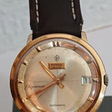 Relojes de pulsera: ANTIGUO RELOJ DE CABALLERO POTENS DE LUXE ELEGANTE AUTOMÁTICO PLAQUE ORO. Lote 194534998