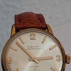 Relojes de pulsera: ANTIGUO RELOJ CAUNY CENTENARIO DE LUXE ORO 10 MICRAS. Lote 194535927