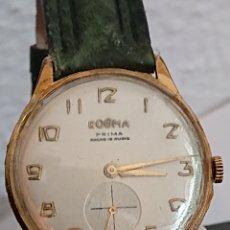 Relojes de pulsera: ANTIGUO RELOJ DOGMA PRIMA ANCRE ORO 10 MICRAS FUNCIONA. Lote 194536770