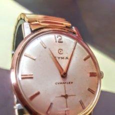 Relojes de pulsera: RELOJ SWSS CYMAFLEX 17JEWES CHAPADO 20MICRAS ORO CALIBRE R.484 FUNCIONA PERFECTAMENTE DIÁMETRO 34.6. Lote 194572865