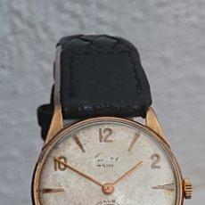 Relojes de pulsera: ANTIGUO RELOJ CAUNY PRIMA DE LUXE ORO 10 MICRAS. Lote 194629872