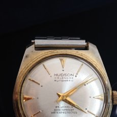 Relojes de pulsera: ANTIGUO RELOJ DE CABALLERO HUDSON CALENDARIO SHOCKPROOF SWISS. Lote 194639163