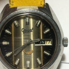 Relojes de pulsera: RELOJ OGIVAL AUTOMÁTICO ESFERA ESPECIAL MAQUINARIA SWISS ORIGINAL 25 JEWELS EN FUNCIONAMIENTO. Lote 194665973