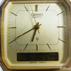 Relojes de pulsera: CASIO DE COLECCION AÑOS 80 AQ-3016 MODULO 314 ES EL DE METAL DORADO LOTE WATCHES. Lote 194714713