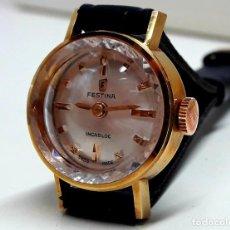 Relojes de pulsera: PEQUEÑO RELOJ VINTAGE FESTINA DE SEÑORA AÑOS 60 CARGA MANUAL CALIBRE FELSA 4122 Y NUEVO . Lote 194715237