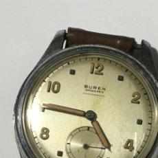 Relojes de pulsera: RELOJ BUREN GRAN PRIX CARGA MANUAL ANTIGUO CAJA DE ACERO EN FUNCIONAMIENTO. Lote 194771335