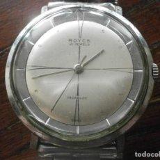 Relojes de pulsera: ANTIGUO RELOJ DE PULSERA MOVIMIENTO CUERDA ROYCE REDONDO DIÁMETRO 3,5 CM. FUNCIONANDO . Lote 194782762
