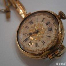 Relojes de pulsera: RELOJ ISABELINO DE ORO DE PULSERA, MARCAS SUIZAS DE GINEBRA EN INTERIOR, PULSERA DE ORO DE 18 K.. Lote 194783283