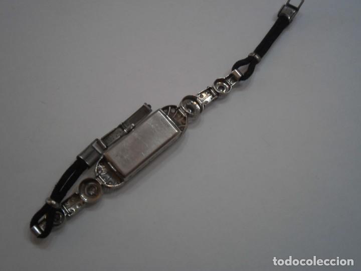 Relojes de pulsera: Reloj de Platino y Diamantes, tipo Art Deco, años 20-30, con pulsera de ropa trenzada - Foto 5 - 194783571