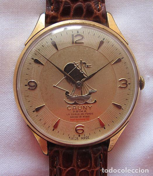 GRAN RELOJ CAUNY PRIMA VINTAGE CARABELA (Relojes - Pulsera Carga Manual)