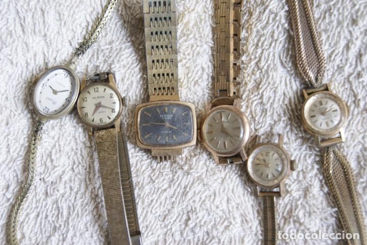 Relojes de pulsera: LOTE DE 14 RELOJES MECANICOS DE DAMA ALGUNO FUNCIONA F22 - Foto 4 - 194858852