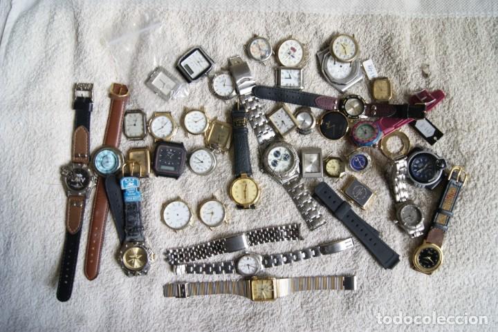 LOTE DE 34 RELOJES QUARTZ SIN REVISAR F23 (Relojes - Pulsera Carga Manual)