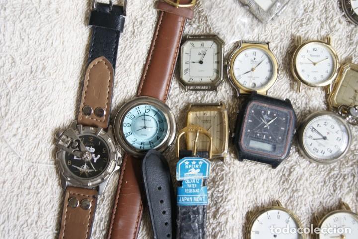 Relojes de pulsera: LOTE DE 34 RELOJES QUARTZ SIN REVISAR F23 - Foto 2 - 194859208