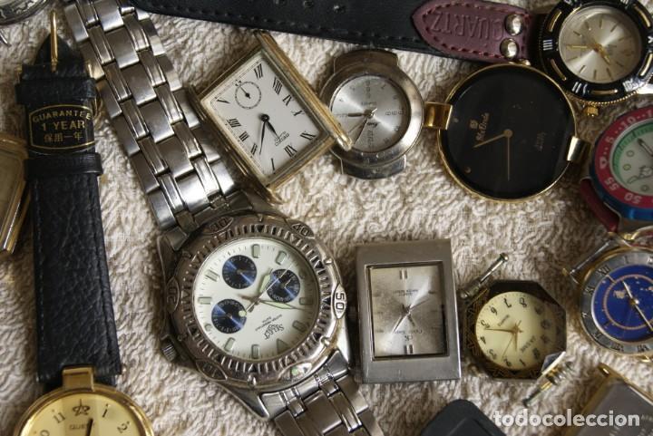 Relojes de pulsera: LOTE DE 34 RELOJES QUARTZ SIN REVISAR F23 - Foto 6 - 194859208