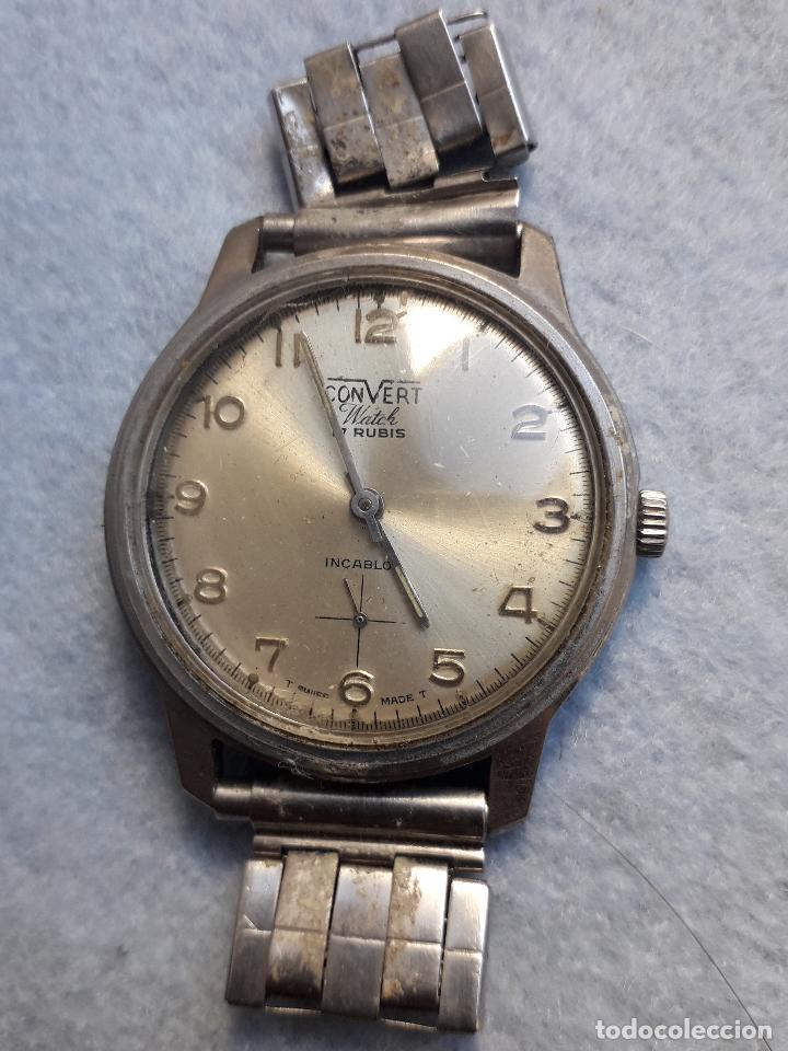 Relojes de pulsera: Lote de 5 Relojes mecánicos antiguos para caballero. - Foto 4 - 194873933
