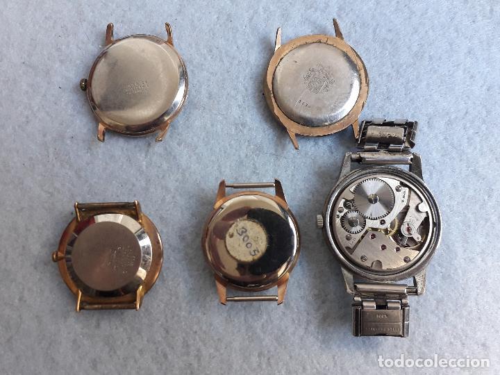 Relojes de pulsera: Lote de 5 Relojes mecánicos antiguos para caballero. - Foto 8 - 194873933