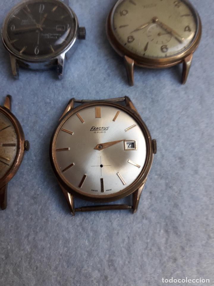 Relojes de pulsera: Lote de 5 Relojes mecánicos antiguos para caballero. - Foto 2 - 194874140