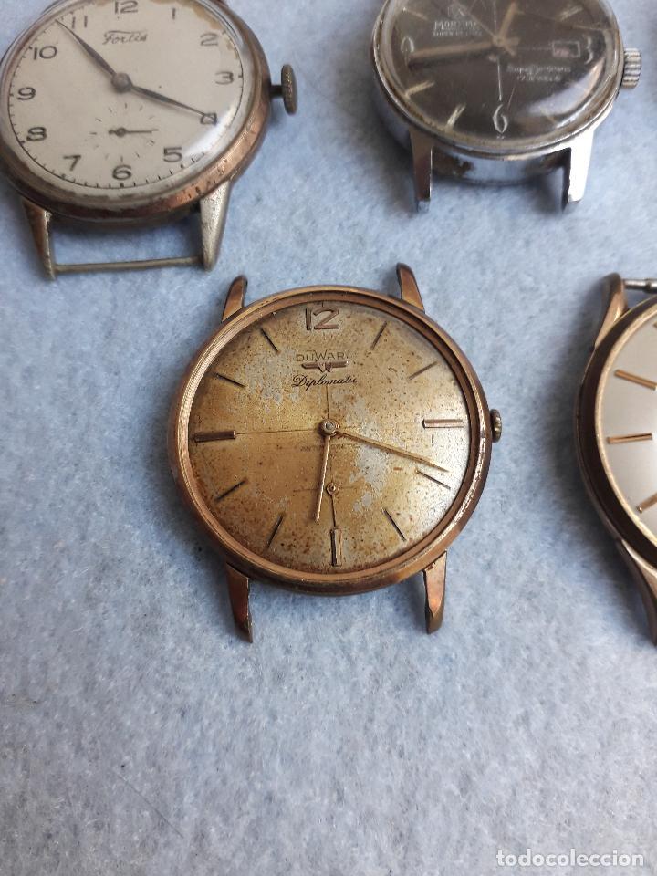 Relojes de pulsera: Lote de 5 Relojes mecánicos antiguos para caballero. - Foto 3 - 194874140