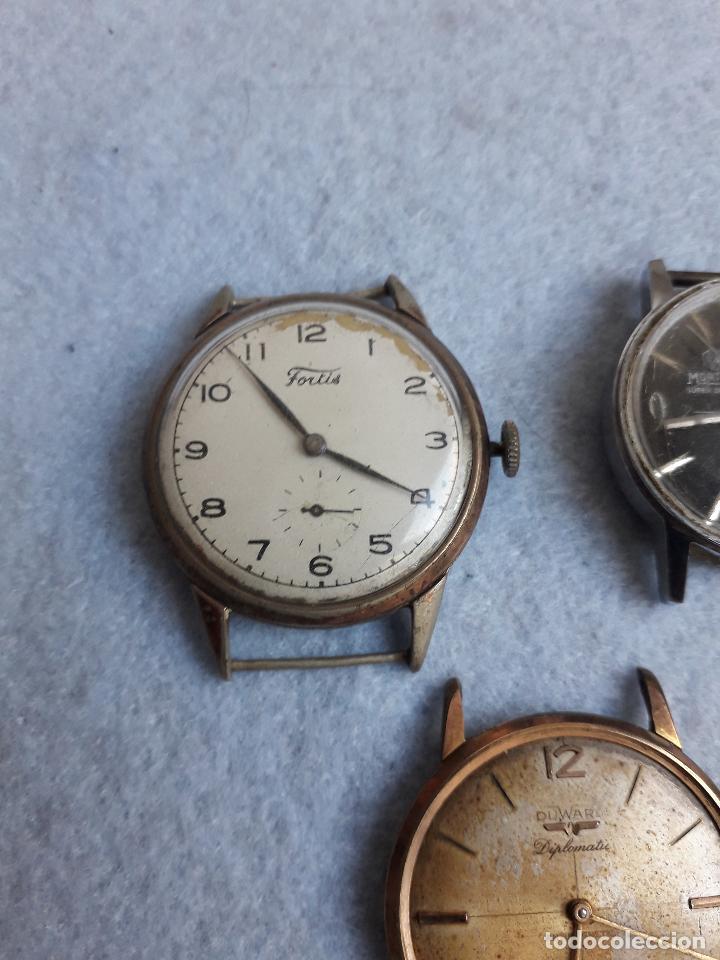 Relojes de pulsera: Lote de 5 Relojes mecánicos antiguos para caballero. - Foto 4 - 194874140