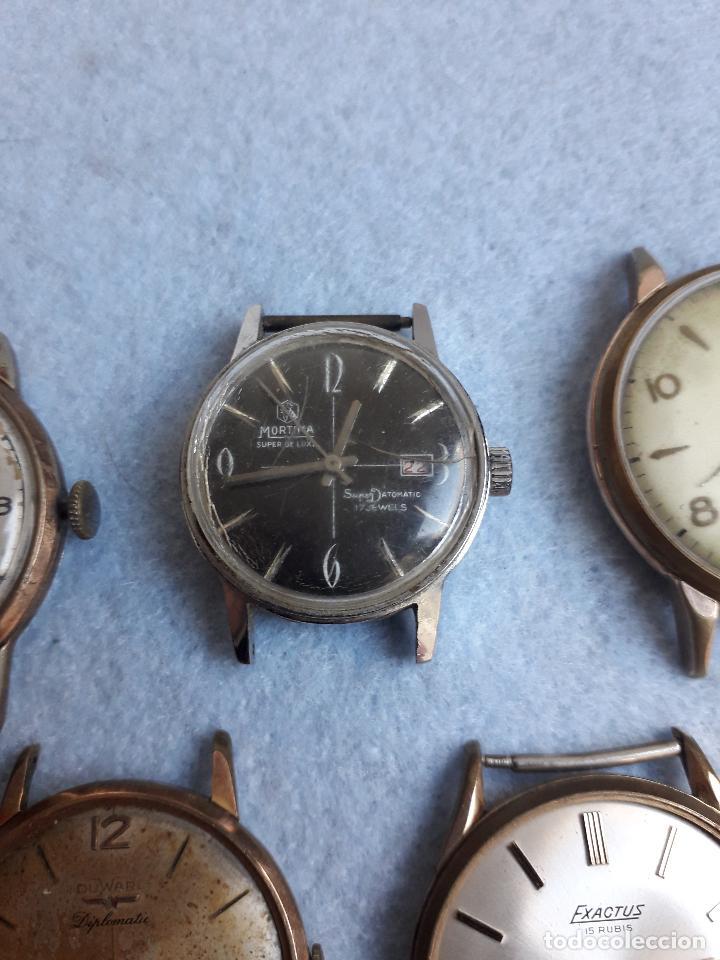 Relojes de pulsera: Lote de 5 Relojes mecánicos antiguos para caballero. - Foto 5 - 194874140
