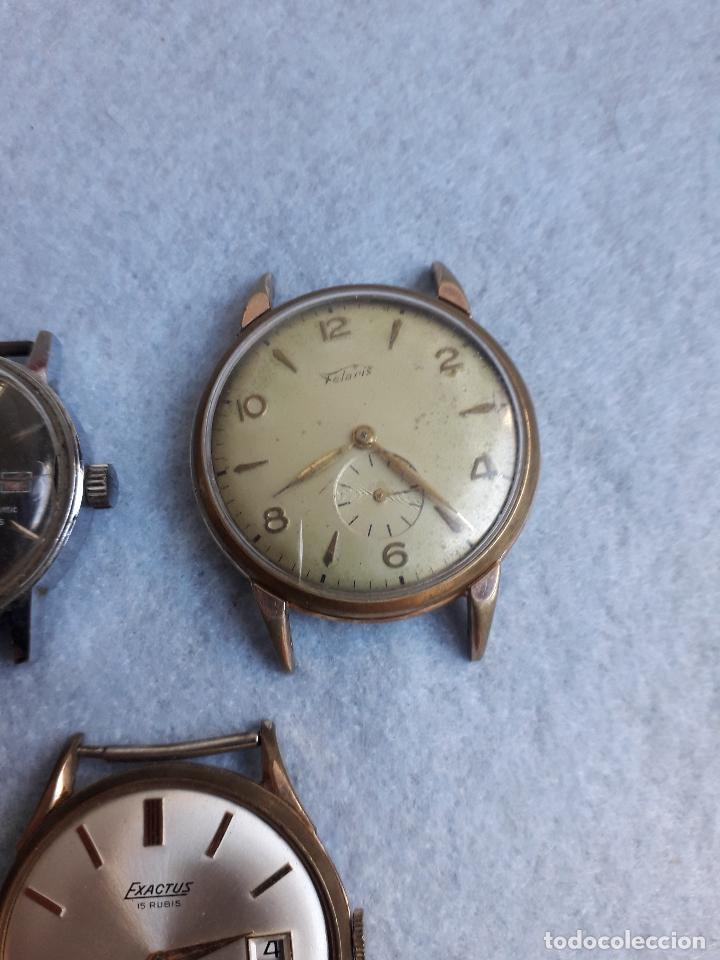 Relojes de pulsera: Lote de 5 Relojes mecánicos antiguos para caballero. - Foto 6 - 194874140