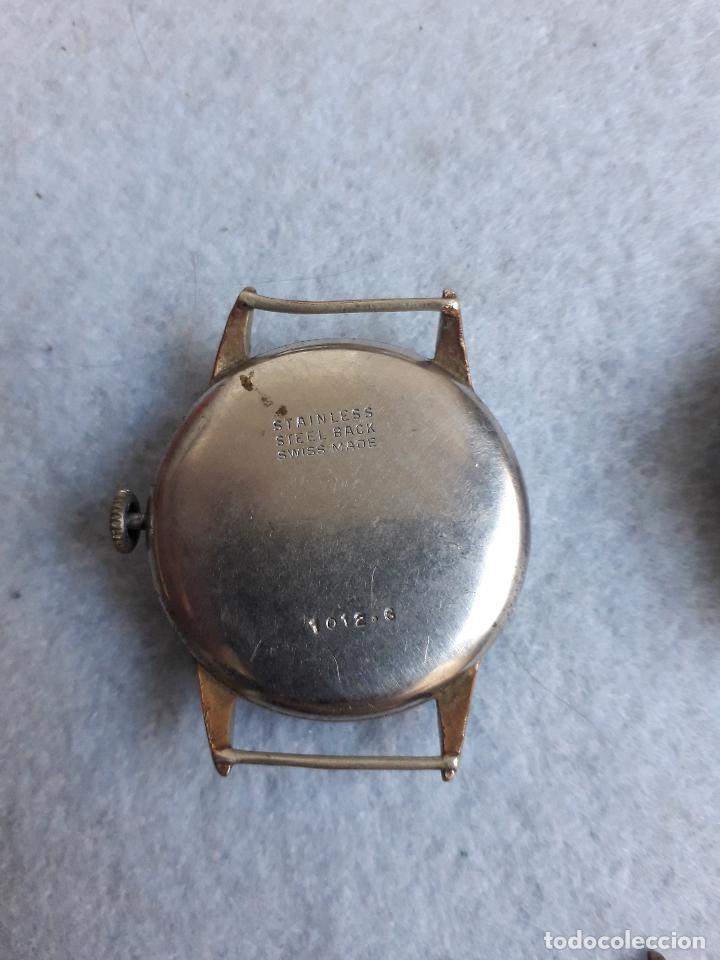 Relojes de pulsera: Lote de 5 Relojes mecánicos antiguos para caballero. - Foto 9 - 194874140