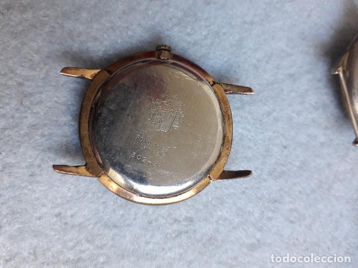 Relojes de pulsera: Lote de 5 Relojes mecánicos antiguos para caballero. - Foto 10 - 194874140