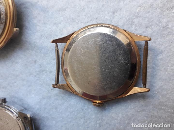 Relojes de pulsera: Lote de 5 Relojes mecánicos antiguos para caballero. - Foto 11 - 194874140