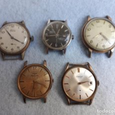 Relojes de pulsera: LOTE DE 5 RELOJES MECÁNICOS ANTIGUOS PARA CABALLERO.. Lote 194874140