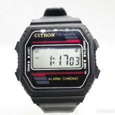 Relojes de pulsera: ANTIGUO Y POPULAR CITRON ELECTRONICO DE 1980 DE CABALLERO SIN USAR LOTE WATCHES. Lote 194882231