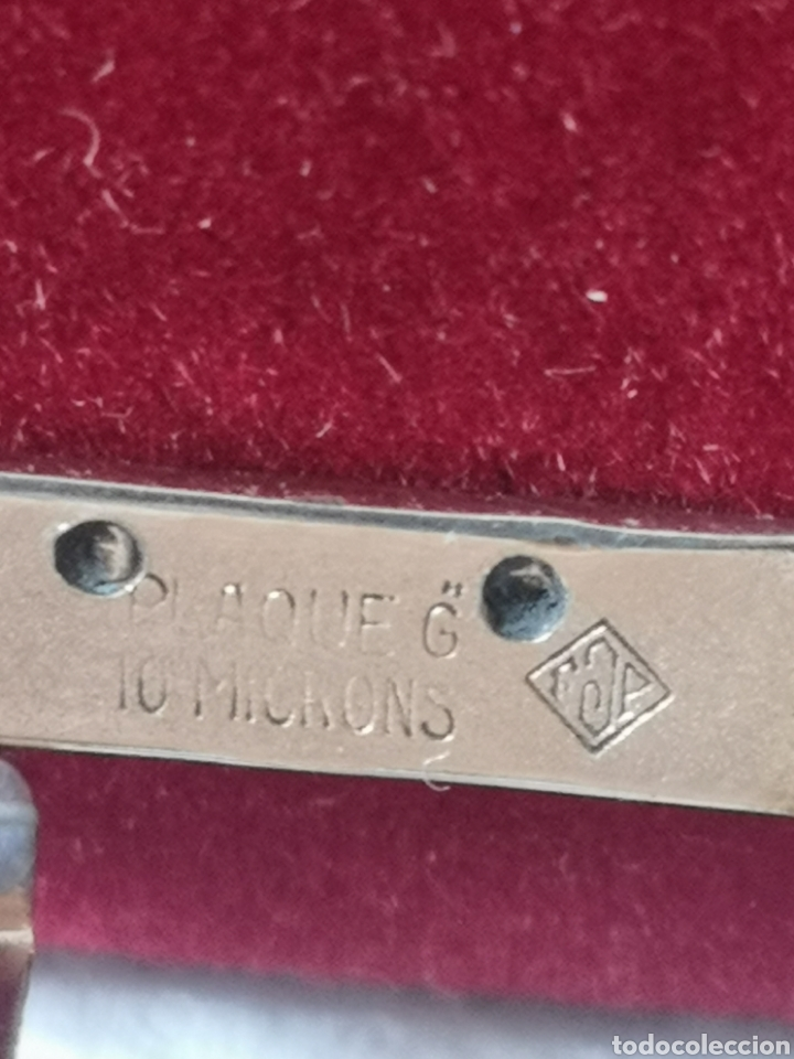 Relojes de pulsera: Antigua hebilla para correa de reloj longines chapado en 10 micrones de oro - Foto 2 - 194896325