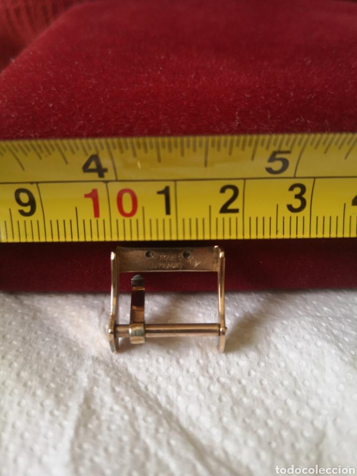 Relojes de pulsera: Antigua hebilla para correa de reloj longines chapado en 10 micrones de oro - Foto 3 - 194896325