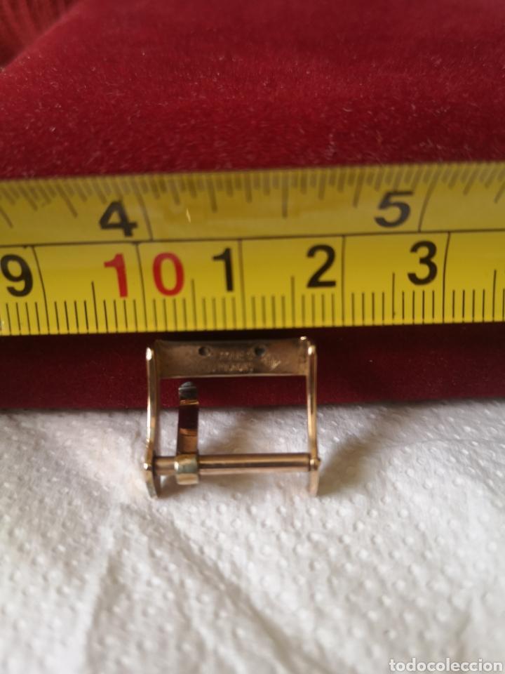 Relojes de pulsera: Antigua hebilla para correa de reloj longines chapado en 10 micrones de oro - Foto 4 - 194896325