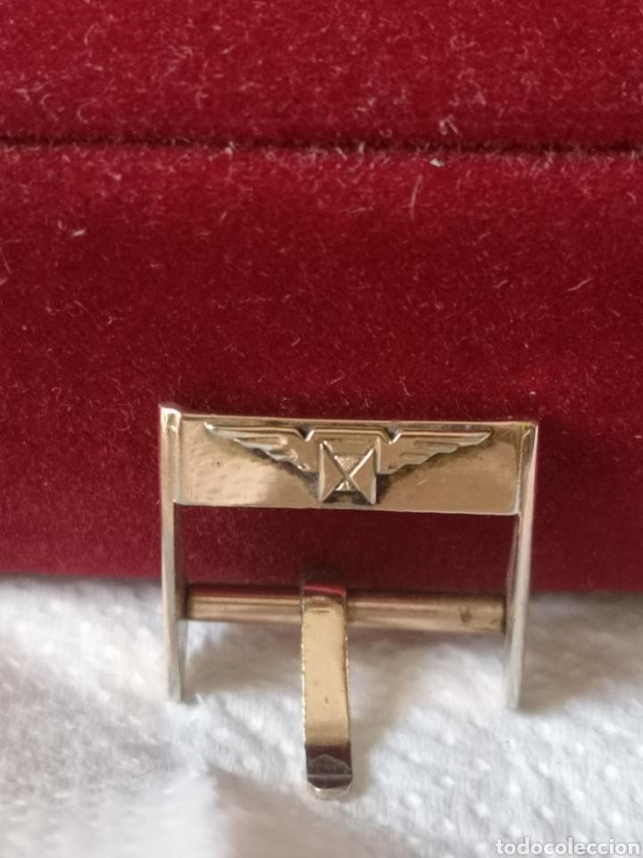 Relojes de pulsera: Antigua hebilla para correa de reloj longines chapado en 10 micrones de oro - Foto 5 - 194896325