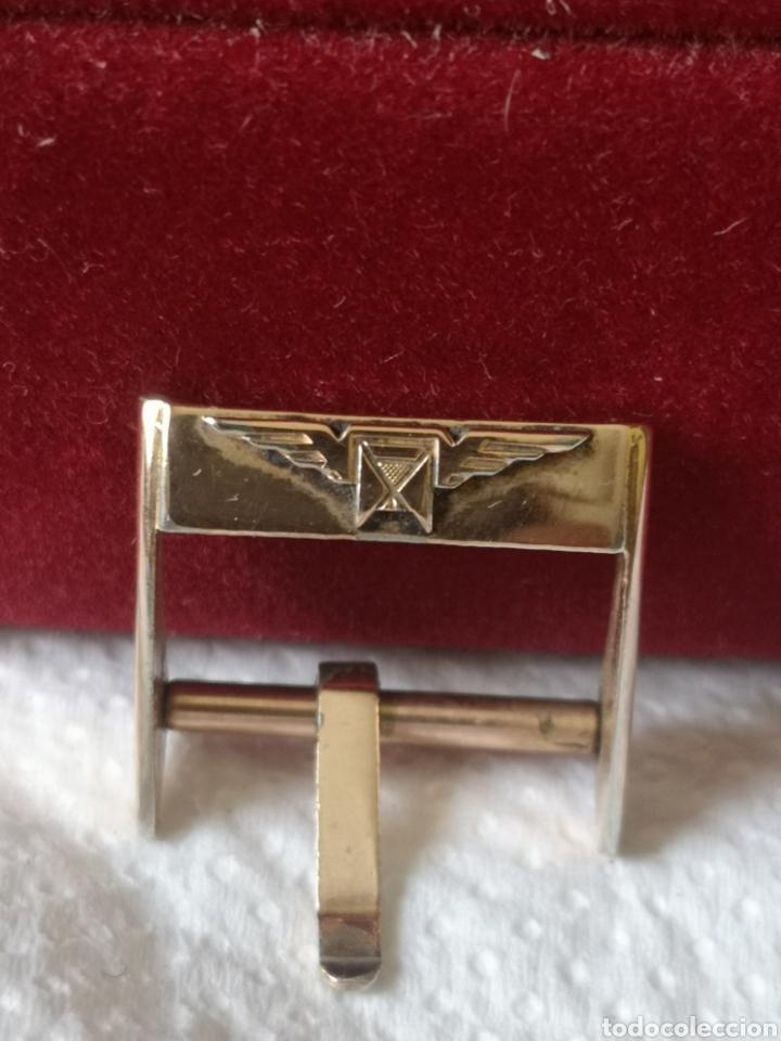 Relojes de pulsera: Antigua hebilla para correa de reloj longines chapado en 10 micrones de oro - Foto 6 - 194896325