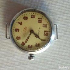 Relojes de pulsera: HEBBO 8 DIAS CUERDA PLATA. Lote 194934360