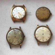 Relojes de pulsera: RELOJ LOTE 4 MÁQUINAS UT 640 ETA 853 UT 6310 VULCAIN 590 FESTINA DUWARD CAUNY. Lote 194945583