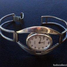 Relojes de pulsera: RELOJ JOYA MUJER PLATA 0,800 HURISA . Lote 194999938